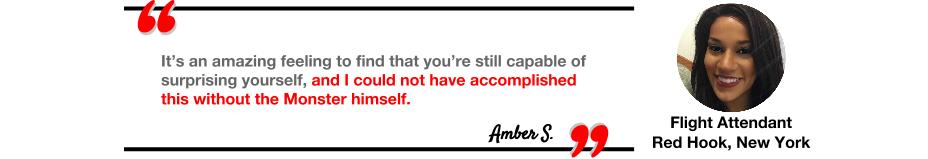 Amber S. testimonial of Monster Longe's personal training