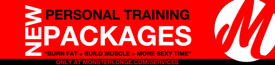 Personal Training Packages Banner (Testimonials Page)